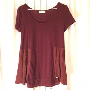 Alter'd State Burgundy Top